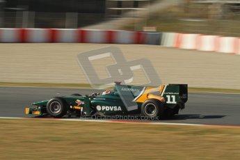 © Octane Photographic Ltd. GP2 Winter testing Barcelona Day 3, Thursday 8th March 2012. Caterham Racing, Rodolfo Gonzales. Digital Ref : 0237lw7d9830