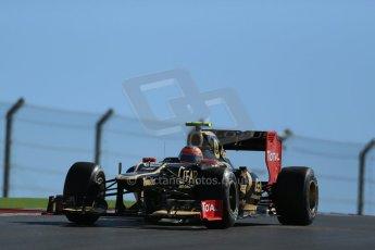 World © Octane Photographic Ltd. F1 USA - Circuit of the Americas - Friday Afternoon Practice - FP2. 16th November 2012. Lotus E20 - Romain Grosjean. Digital Ref: 0558lw1d1701