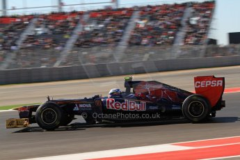 World © Octane Photographic Ltd. F1 USA - Circuit of the Americas - Friday Afternoon Practice - FP2. 16th November 2012/ Toro Rosso STR7 - Jean-Eric Vergne. Digital Ref: 0558lw7d3427