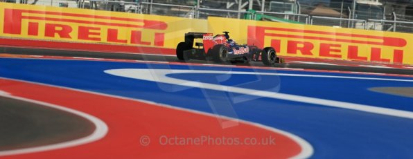 World © Octane Photographic Ltd. F1 USA - Circuit of the Americas - Friday Morning Practice - FP1. 16th November 2012. Toro Rosso STR7 - Jean-Eric Vergne. Digital Ref: 0557lw1d0914