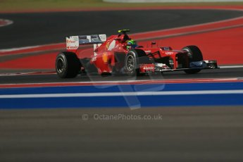 World © Octane Photographic Ltd. F1 USA - Circuit of the Americas - Friday Morning Practice - FP1. 16th November 2012. Ferrari F2012 - Fernando Alonso. Digital Ref: 0557lw1d1088