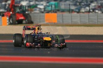 World © Octane Photographic Ltd. F1 USA - Circuit of the Americas - Friday Morning Practice - FP1. 16th November 2012. Red Bull RB8 - Sebastian Vettel. Digital Ref: 0557lw1d1636