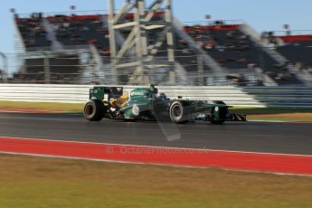 World © Octane Photographic Ltd. F1 USA - Circuit of the Americas - Friday Morning Practice - FP1. 16th November 2012. Caterham CT01 - Vitaly Petrov. Digital Ref: 0557lw7d2999