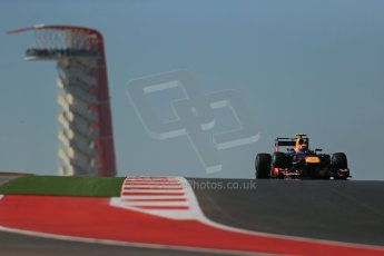 World © Octane Photographic Ltd. Formula 1 USA, Circuit of the Americas - Qualifying. 17th November 2012 Red Bull RB8 - Mark Webber. Digital Ref: 0560lw1d3217