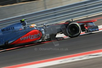 World © Octane Photographic Ltd. Formula 1 USA, Circuit of the Americas - Qualifying. 17th November 2012 Vodafone McLaren Mercedes MP4/27 - Lewis Hamilton. Digital Ref: 0560lw1d3686