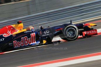 World © Octane Photographic Ltd. Formula 1 USA, Circuit of the Americas - Qualifying. 17th November 2012 Red Bull RB8 - Sebastian Vettel. Digital Ref: 0560lw1d3702