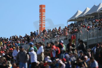 World © Octane Photographic Ltd. Formula 1 USA, Circuit of the Americas - Qualifying. 17th November 2012 The crowds fill the grandstands. Digital Ref: 0560lw1d3821