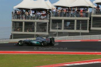 World © Octane Photographic Ltd. Formula 1 USA, Circuit of the Americas - Race 18th November 2012. Mercedes AMG Petronas F1 W03 - Nico Rosberg. Digital Ref: 0561lw1d4428