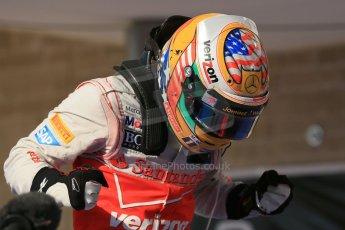 World © Octane Photographic Ltd. Formula 1 USA, Circuit of the Americas - Parc Ferme - Lewis Hamilton, Vodafone McLaren Mercedes. 18th November 2012 Digital Ref: 0561lw1d4526