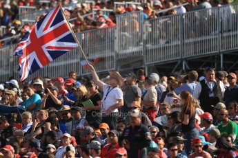 World © Octane Photographic Ltd. Formula 1 USA, Circuit of the Americas - Race - British fans flying the Union Flag. 18th November 2012 Digital Ref: 0561lw7d4312