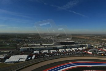 World © Octane Photographic Ltd. F1 USA - Circuit of the Americas - Saturday Morning Practice - FP3. 17th November 2012. View from the Tower. Digital Ref: 0559lw1d2417