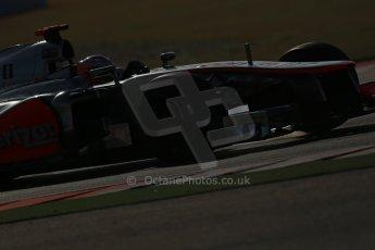 World © Octane Photographic Ltd. F1 USA - Circuit of the Americas - Saturday Morning Practice - FP3. 17th November 2012. Vodafone McLaren Mercedes MP4/27 - Jenson Button. Digital Ref: 0559lw1d2637