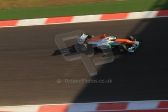 World © Octane Photographic Ltd. F1 USA - Circuit of the Americas - Saturday Morning Practice - FP3. 17th November 2012. Sahara Force India VJM05 - Paul di Resta. Digital Ref: 0559lw7d3614