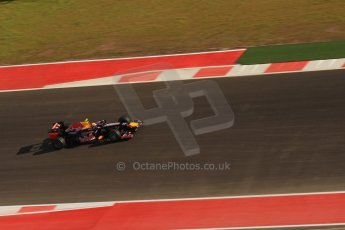 World © Octane Photographic Ltd. F1 USA - Circuit of the Americas - Saturday Morning Practice - FP3. 17th November 2012. Red Bull RB8 - Mark Webber. Digital Ref: 0559lw7d3699