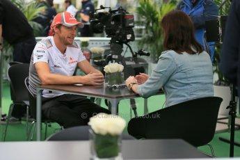 2012 © www.octanephotos.co.uk Circuit of the Americas - Thursday Paddock Interview - Jenson Button - McLaren. 15th November 2012 Digital Ref: 0556lw1d0603