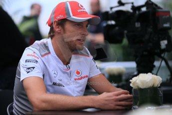 2012 © www.octanephotos.co.uk Circuit of the Americas - Thursday Paddock Interview - Jenson Button - McLaren. 15th November 2012 Digital Ref: 0556lw1d0606