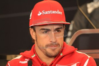 2012 © www.octanephotos.co.uk Circuit of the Americas - Thursday Press Conference - Fernando Alonso - Ferrari. 15th November 2012 Digital Ref: 0556lw7d2723