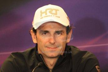 2012 © www.octanephotos.co.uk Circuit of the Americas - Thursday Press Conference - Pedro de la Rosa - HRT. 15th November 2012 Digital Ref: 0556lw7d2735