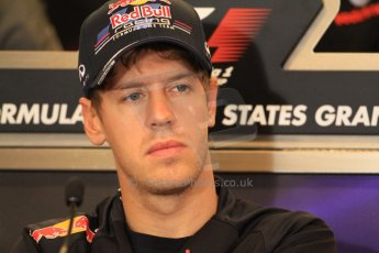 2012 © www.octanephotos.co.uk Circuit of the Americas - Thursday Press Conference - Sebastian Vettel - Red Bull. 15th November 2012 Digital Ref: 0556lw7d2842