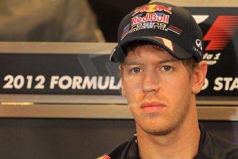 2012 © www.octanephotos.co.uk Circuit of the Americas - Thursday Press Conference - Sebastian Vettel - Red Bull. 15th November 2012 Digital Ref: 0556lw7d2880