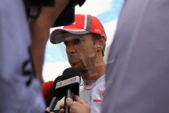 2012 © www.octanephotos.co.uk Circuit of the Americas - Thursday Paddock Interview - Jenson Button - McLaren. 15th November 2012 Digital Ref: 0556lw7d2914