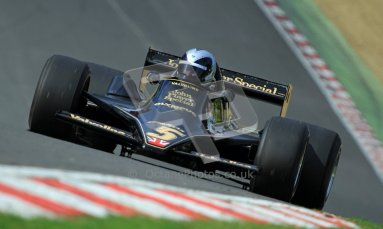 © Carl Jones/Octane Photographic Ltd. 2012. Classic Lotus Festival F1 car demonstation session2  - Brands Hatch, Sunday 19th August 2012.  Andrew Morris, Lotus 79.  Digital Ref : 0467cj7d8589