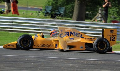 © Carl Jones/Octane Photographic Ltd. 2012. Classic Lotus Festival F1 car demonstation session2  - Brands Hatch, Sunday 19th August 2012. Martin Donnelly, Lotus 102.  Digital Ref : 0467cj7d8622