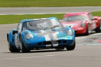 "© Octane Photographic Ltd. 2012 Donington Historic Festival. ""1000km"" for pre-72 sports-racing cars, qualifying. Chevron B8 - Philip Nelson. Digital Ref : 0319cb1d8365"