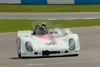 "© Octane Photographic Ltd. 2012 Donington Historic Festival. ""1000km"" for pre-72 sports-racing cars, qualifying. Porsche 908/2 - Robert Fink. Digital Ref : 0319cb1d8392"