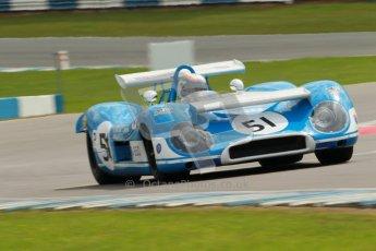 "© Octane Photographic Ltd. 2012 Donington Historic Festival. ""1000km"" for pre-72 sports-racing cars, qualifying. Matra MS650 - Rob Hall. Digital Ref : 0319cb1d8439"