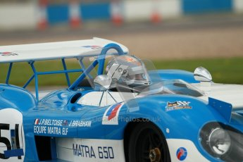 "© Octane Photographic Ltd. 2012 Donington Historic Festival. ""1000km"" for pre-72 sports-racing cars, qualifying. Matra MS650 - Rob Hall. Digital Ref : 0319cb1d8480"