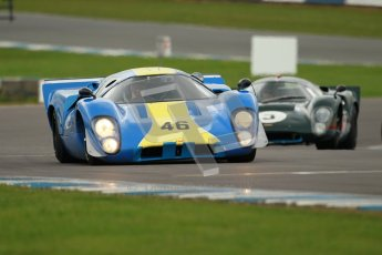 "© Octane Photographic Ltd. 2012 Donington Historic Festival. ""1000km"" for pre-72 sports-racing cars, qualifying. Lola T70 - David Coplow/Martin Stretton. Digital Ref : 0319cb1d8579"