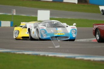 "© Octane Photographic Ltd. 2012 Donington Historic Festival. ""1000km"" for pre-72 sports-racing cars, qualifying. Lola T70 Mk.3B - Leo Voyazides/Simon Hadfield. Digital Ref : 0319cb1d8672"
