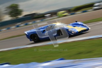 "© Octane Photographic Ltd. 2012 Donington Historic Festival. ""1000km"" for pre-72 sports-racing cars, qualifying. Lola T70 - David Coplow/Martin Stretton. Digital Ref : 0319cb7d0146"