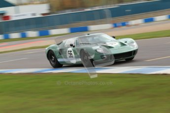 "© Octane Photographic Ltd. 2012 Donington Historic Festival. ""1000km"" for pre-72 sports-racing cars, qualifying. Ford GT40 - Andy Wolfe. Digital Ref : 0319cb7d0186"