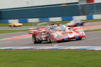 "© Octane Photographic Ltd. 2012 Donington Historic Festival. ""1000km"" for pre-72 sports-racing cars, qualifying. Ferrari 512M - Paul Knapfield. Digital Ref : 0319cb7d0190"