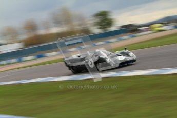 "© Octane Photographic Ltd. 2012 Donington Historic Festival. ""1000km"" for pre-72 sports-racing cars, qualifying. Lola T70 Mk.3B - Jason Wright/Michael Gans. Digital Ref : 0319cb7d0195"