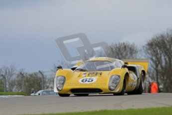 "© Octane Photographic Ltd. 2012 Donington Historic Festival. ""1000km"" for pre-72 sports-racing cars, qualifying. Lola T70 - Grant Tromans. Digital Ref : 0319lw7d9123"