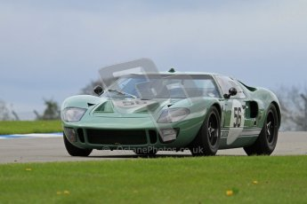 "© Octane Photographic Ltd. 2012 Donington Historic Festival. ""1000km"" for pre-72 sports-racing cars, qualifying. Ford GT40 - Andy Wolfe. Digital Ref : 0319lw7d9140"