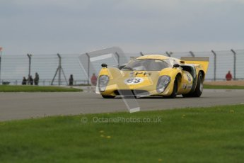 "© Octane Photographic Ltd. 2012 Donington Historic Festival. ""1000km"" for pre-72 sports-racing cars, qualifying. Lola T70 - Grant Tromans. Digital Ref : 0319lw7d9307"