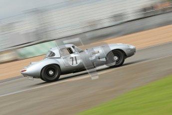© Octane Photographic Ltd. 2012 Donington Historic Festival. E-type Challenge, qualifying. Jaguar E-type - Frederic Wakeman/Andrew Hall. Digital Ref : 0317cb7d0047