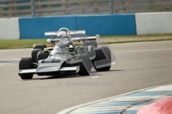 © Octane Photographic Ltd. 2012 Donington Historic Festival. HSCC Historic F2, qualifying. Chevron B25 - David Gathercole. Digital Ref : 0315cb1d7751