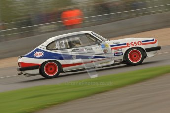 © Octane Photographic Ltd. 2012 Donington Historic Festival. JD Classics Challenge for 66 to 85 touring cars, qualifying. Ford Capri - Paul Pochciol. Digital Ref : 0318cb7d0080