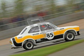 © Octane Photographic Ltd. 2012 Donington Historic Festival. JD Classics Challenge for 66 to 85 touring cars, qualifying. Ford Escort Mk.I - Sean Brown/Robert Brown. Digital Ref : 0318cb7d0101