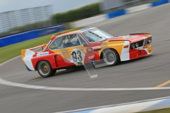 © Octane Photographic Ltd. 2012 Donington Historic Festival. JD Classics Challenge for 66 to 85 touring cars, qualifying. BMW 3.0SCL - Andrew Smith/John Young. Digital Ref : 0318cb7d0125