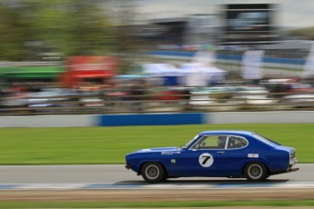 © Octane Photographic Ltd. 2012 Donington Historic Festival. JD Classics Challenge for 66 to 85 touring cars, qualifying. Ford Capri - Denis Welch/Mike Freeman. Digital Ref : 0318lw7d8857