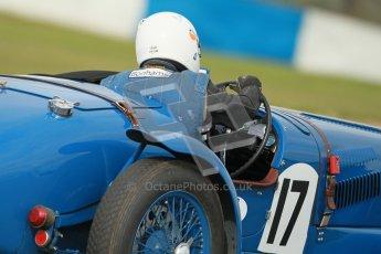 "© Octane Photographic Ltd. 2012 Donington Historic Festival. ""Mad Jack"" for pre-war sportscars, qualifying. Delahaye 135CS - John Polson. Digital Ref : 0314cb1d7432"