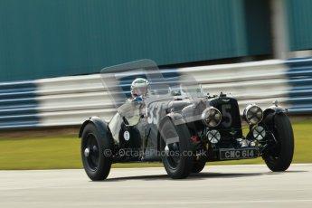 "© Octane Photographic Ltd. 2012 Donington Historic Festival. ""Mad Jack"" for pre-war sportscars, qualifying. Aston Martin Ulster - Mark Midgley. Digital Ref : 0314cb1d7507"