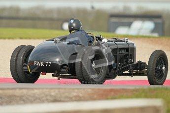 "© Octane Photographic Ltd. 2012 Donington Historic Festival. ""Mad Jack"" for pre-war sportscars, qualifying. 5th May 2012, Jaguar SS100 - Tom McWhirter. Digital Ref : 0314cb1d7593"