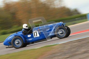 "© Octane Photographic Ltd. 2012 Donington Historic Festival. ""Mad Jack"" for pre-war sportscars, qualifying. Delahaye 135CS - John Polson. Digital Ref : 0314cb7d9610"